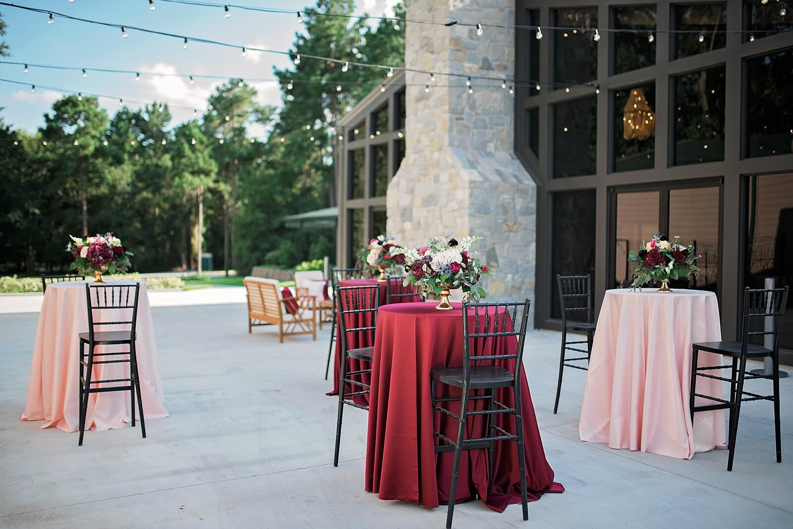 Cocktail hour setup at one of the unique wedding venues in Houston The Annex